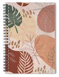 Pink Terracotta Pattern - Spiral Notebook