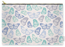 Load image into Gallery viewer, Purple and Green Butterfly Pattern - Carry-All Pouch