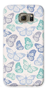 Purple and Green Butterfly Pattern - Phone Case