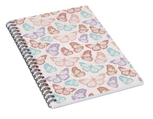 Load image into Gallery viewer, Rainbow Butterfly Pattern - Spiral Notebook