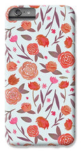 Load image into Gallery viewer, Red Floral Pattern - Phone Case