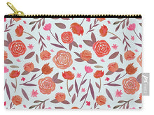 Load image into Gallery viewer, Red Floral Pattern - Carry-All Pouch