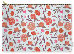 Red Floral Pattern - Carry-All Pouch