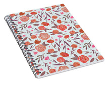 Load image into Gallery viewer, Red Floral Pattern - Spiral Notebook