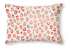 Load image into Gallery viewer, Rose Gold Leopard Print - Throw Pillow