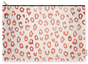 Rose Gold Leopard Print - Carry-All Pouch