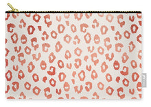 Load image into Gallery viewer, Rose Gold Leopard Print - Carry-All Pouch
