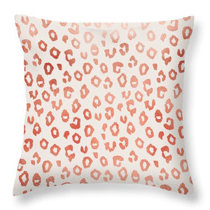 Rose Gold Leopard Print - Throw Pillow