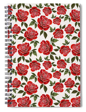 Load image into Gallery viewer, Rose Watercolor Pattern - Spiral Notebook