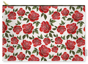 Rose Watercolor Pattern - Carry-All Pouch