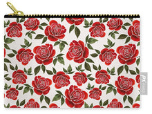 Load image into Gallery viewer, Rose Watercolor Pattern - Carry-All Pouch