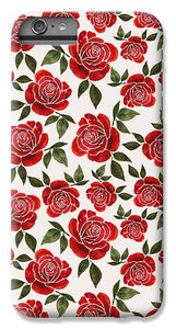 Rose Watercolor Pattern - Phone Case