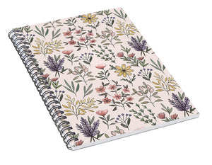 Spring Botanical Pattern - Spiral Notebook