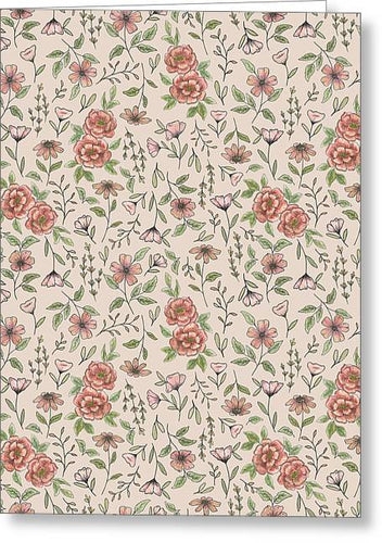Spring Floral Pattern - Greeting Card