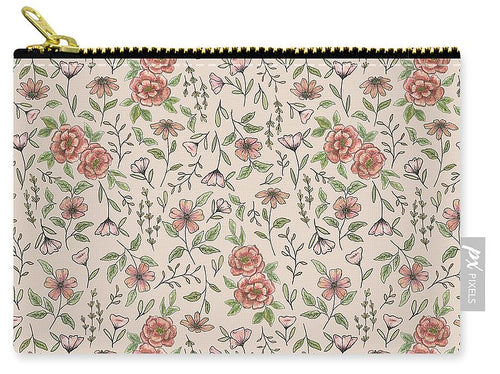 Spring Floral Pattern - Carry-All Pouch