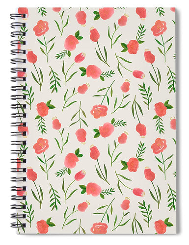 Spring Watercolor Flowers - Spiral Notebook