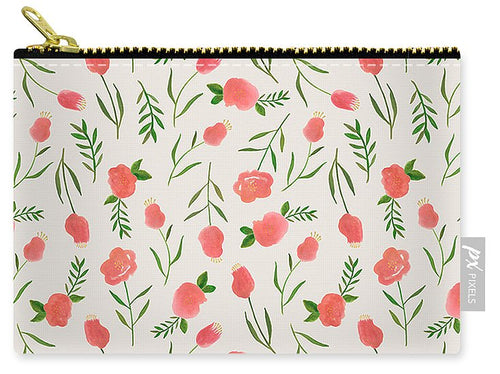 Spring Watercolor Flowers - Carry-All Pouch