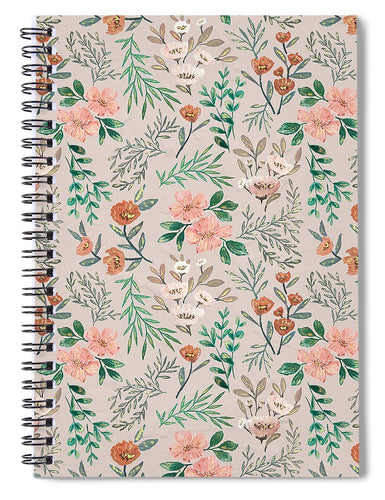 Springtime Pattern - Spiral Notebook