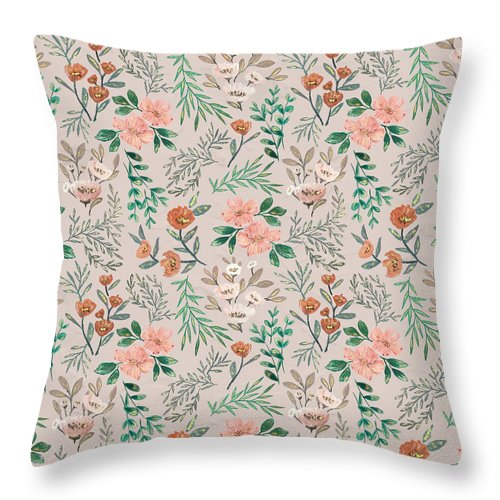 Springtime Pattern - Throw Pillow