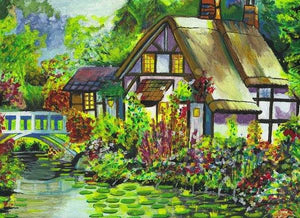 Summer Cottage - Art Print