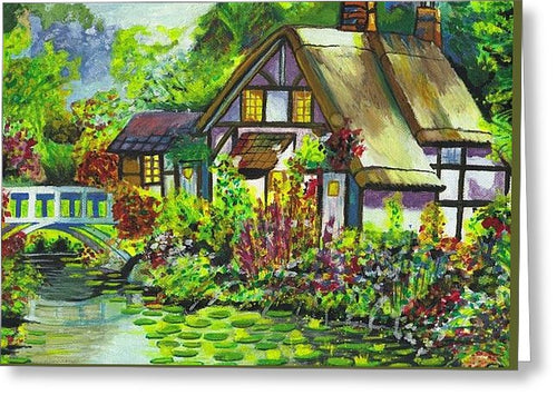 Summer Cottage - Greeting Card