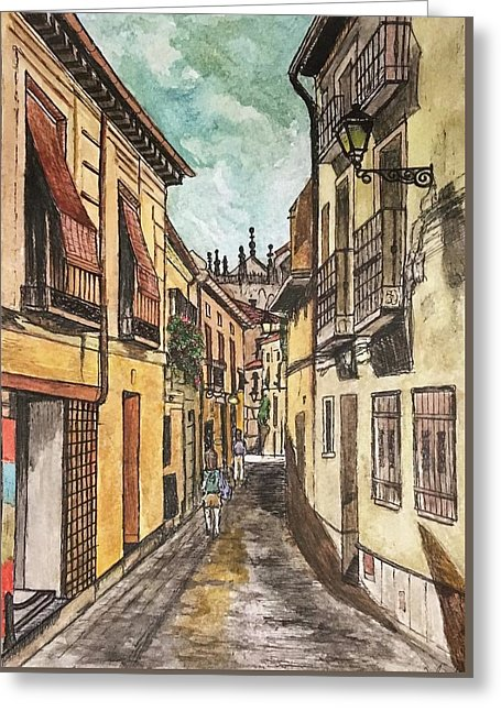 Summer Street In Toledo - Greeting Card
