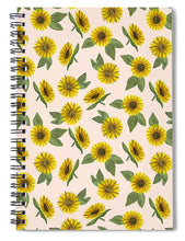Load image into Gallery viewer, Sunflower Watercolor Pattern - Spiral Notebook