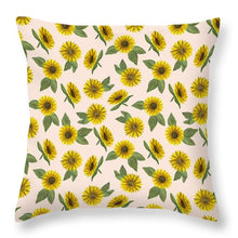 Load image into Gallery viewer, Sunflower Watercolor Pattern - Throw Pillow