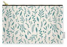 Load image into Gallery viewer, Teal Falling Leaves Pattern - Carry-All Pouch