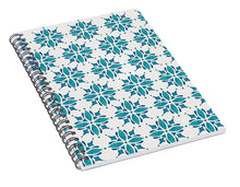 Load image into Gallery viewer, Teal Watercolor Tile Pattern - Spiral Notebook