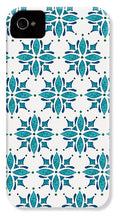 Load image into Gallery viewer, Teal Watercolor Tile Pattern - Phone Case