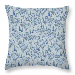 Texas Blue Bonnet - Throw Pillow
