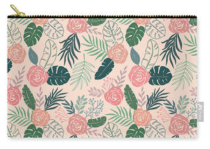 Tropical Floral Pattern - Carry-All Pouch