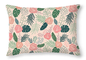 Tropical Floral Pattern - Throw Pillow