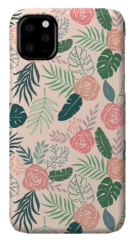 Tropical Floral Pattern - Phone Case