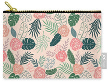 Load image into Gallery viewer, Tropical Floral Pattern - Carry-All Pouch