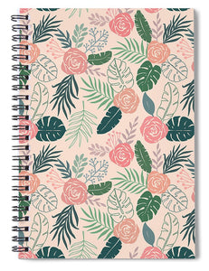 Tropical Floral Pattern - Spiral Notebook