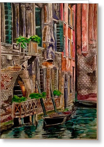 Venice Canal - Greeting Card