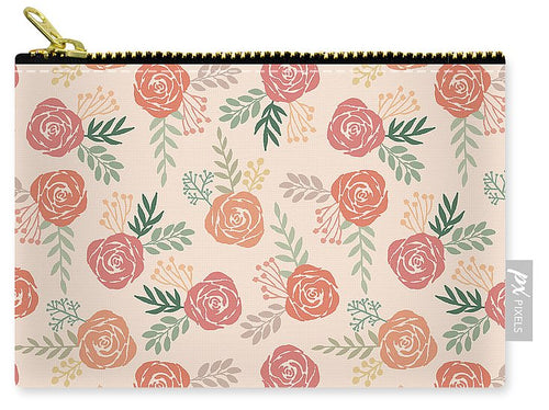 Warm Floral Pattern - Carry-All Pouch