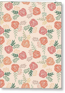 Warm Floral Pattern - Greeting Card