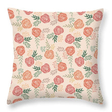 Load image into Gallery viewer, Warm Floral Pattern - Throw Pillow