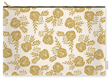 Load image into Gallery viewer, Warm Gold Floral Pattern - Carry-All Pouch