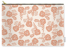 Load image into Gallery viewer, Warm Orange Floral Pattern - Carry-All Pouch
