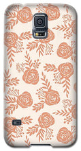 Load image into Gallery viewer, Warm Orange Floral Pattern - Phone Case