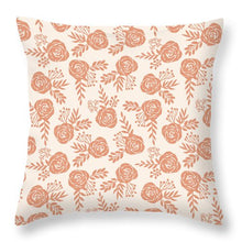 Load image into Gallery viewer, Warm Orange Floral Pattern - Throw Pillow