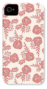 Warm Pink Floral Pattern - Phone Case
