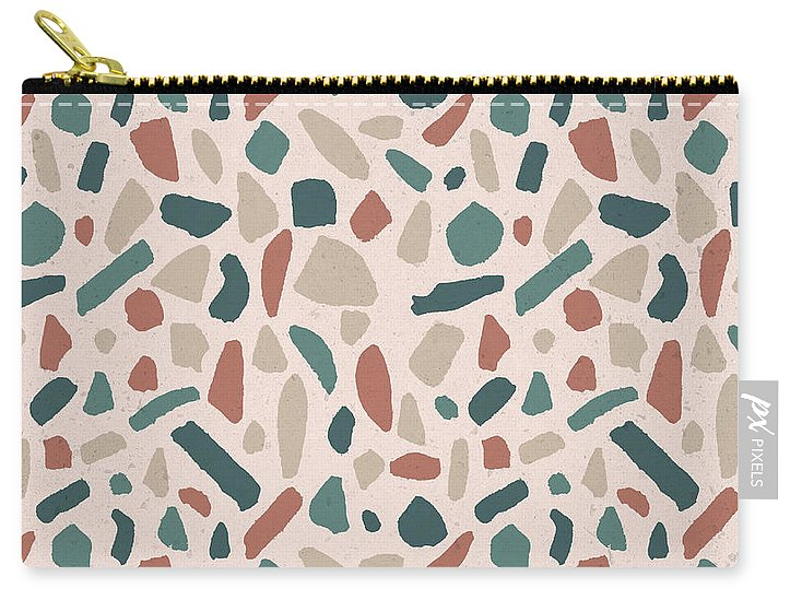 Warm Terrazzo Pattern - Carry-All Pouch