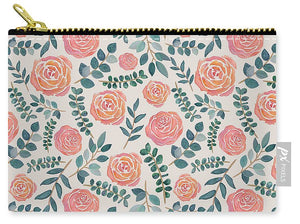 Watercolor Floral Pattern - Carry-All Pouch