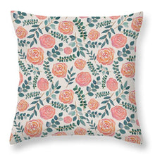 Load image into Gallery viewer, Watercolor Floral Pattern - Throw Pillow
