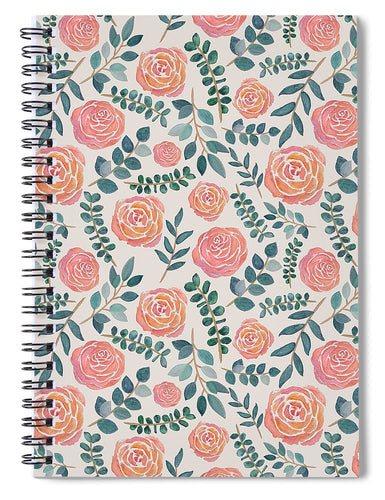 Watercolor Floral Pattern - Spiral Notebook